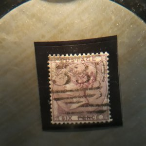 GB 27a  1856  used VF deep lilac
