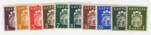 Latvia - 1940 - SC 217-29 - LH - Short set - no 224