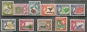 Pitcairn Isl.  20-30 MNH 1957 QEII Pictorial Definitives