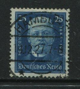 Germany 1927 Semi-Postal Paul Hindenburg 25 pf deep blue used