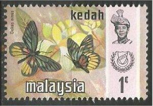 KEDAH, 1971, MNH 1c, Butterfly Scott 113