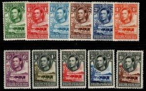 BECHUANALAND SG118/28 1938-52 DEFINITIVE SET MTD MINT