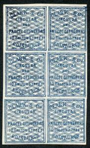 Clark and Co Parcel Delivery Stamps U/M Block 6 SGCD3