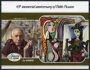 SIERRA LEONE  2017:  45th MEMORIAL ANN OF PABLO PICASSO  S/S  MINT NH