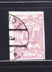 Central Lithuania B17 Imperf U Semi Postal Stamp