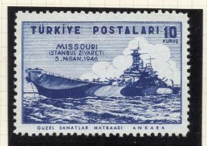 Turkey 1946 Early Issue Fine Mint Hinged 10k. NW-05203