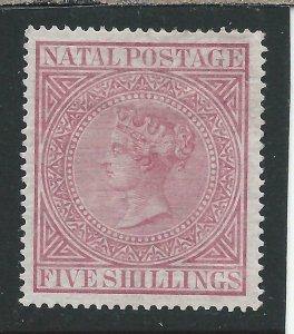 NATAL 1874-99 5s ROSE MM SG 72 CAT £150
