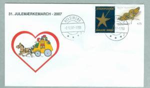 Denmark. Cover Cachet Mail Coach. # 31  Christmas Seals Walk 2007.Helsingor.