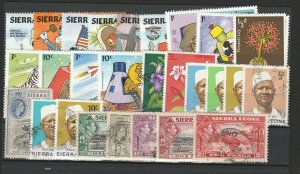 Sierra Leone Disney QV KGVI Very Fine MNH** & Used Stamps Lot Collection 15408