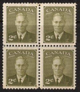 CANADA -King George VI Portrait - 305 - 1951 Mint Block