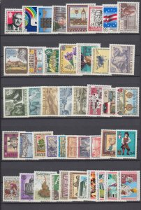 J29530, 1986 austria mnh year set  #1334-1380, no s/s, no 1342