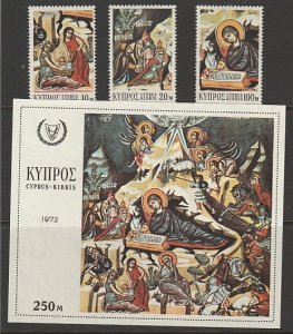 CYPRUS #390-3 MINT NEVER HINGED COMPLETE