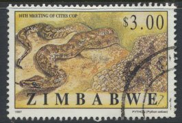 Zimbabwe SG 947  SC# 779 Used  Endangered Species  see detail and scan