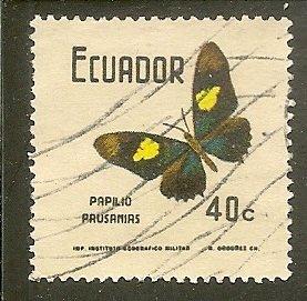 Ecuador  Scott 800 Butterfly   Used