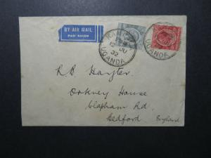 KUT 1932 Airmail Cover to UK - Z12521