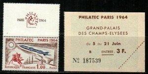 France Scott 1100 Mint NH (Catalog Value $25.00)