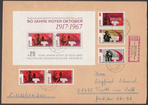 EAST GERMANY 1967 Registered cover - great franking.........................B367