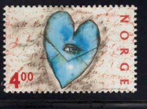 Norway Scott 1248 MNH** 2000 Love stamp
