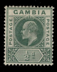 GAMBIA EDVII SG45, ½d green, M MINT.