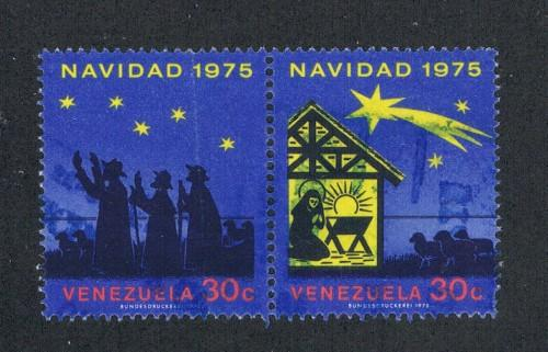 Venezuela 1112a Pair Used Adoration of the Shepherds (V0280)
