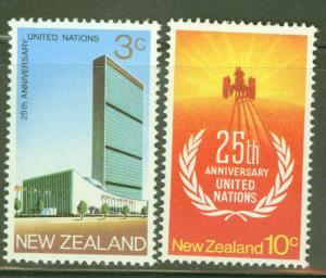 New Zealand Scott 462-3 MNH** UN 1970 set