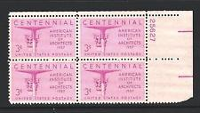 SCOTT # 1089 PLATE BLOCK MINT NEVER HINGED GREAT LOOKING GEM  !