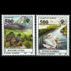 YUGOSLAVIA 1992 - Scott# 2183-4 Nature-Birds Set of 2 NH