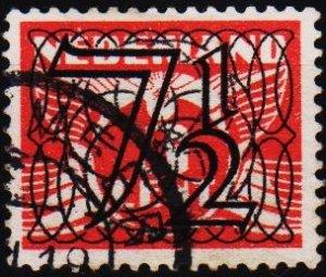 Netherlands. 1940 7 1/2 on 3c. S.G.524 Fine Used