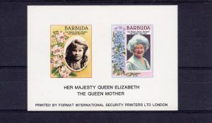 Barbuda Queen Mother Special SS De-Luxe Imperf.Limited issue