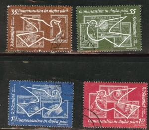 ROMANIA Scott C119-122 used CTO Airmail set 1962
