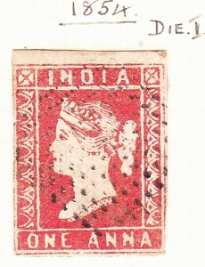 INDIA 1854 1A Red Die I SG12 Used