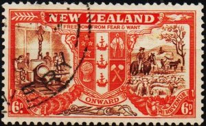 New Zealand. 1946 6d S.G.674 Fine Used