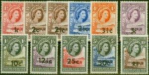 Bechuanaland 1961 Set of 14 SG168-181 Fine Mtd Mint