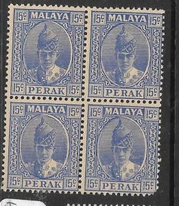 MALAYA PERAK   (PP2305B)   15C SG 114 BL OF 4       MNH