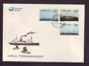 Faroe Islands Sc90-2 1983 Cargo Ships stamps FDC