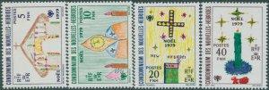 New Hebrides French 1979 SGF292-F295 Christmas set MNH