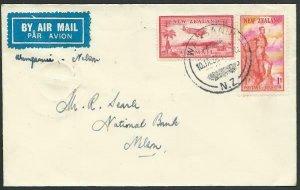 NEW ZEALAND 1938 first flight cover Wanganui to Nelson via Wellington......56776