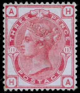SG144, 3d pale rose plate 11, NH MINT. Cat £450+. HA