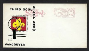 1968 Canada Vancouver Scout Stamp Show meter