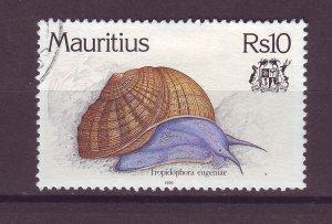 J25469 JLstamps 1996 mauritius hv of set used #824 snail