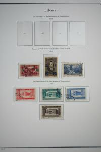 Lebanon Stamps Early Used Sets S/S 1942-1960's + BOB in Alb