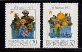 Micronesia MNH sc# 182-3 Christmas 08CV $3.40