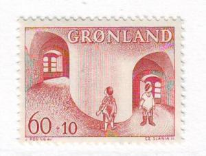 Greenland Sc B3 1968 s Child Welfare stamp NH
