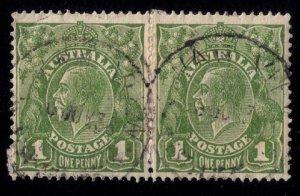 AUSTRALIA Sc #67 Used Vert. Pair F-VF