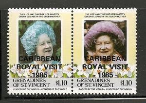 St. Vincent Grenadines 1985 Royal visit stamp Mint 505-506