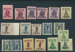 Poland 1955 Warsaw Monuments Proofs Overprinted MNH (BKA 2153
