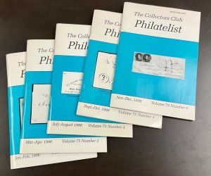 The Collectors Club Philatelist Lot of 5 Issues   1996