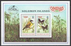 L1336 SOLOMON ISLANDS FLORA & FAUNA BIRDS BUTTERFLIES CHRISTMAS 1997 1KB MNH
