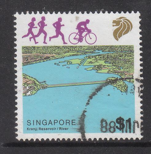 Singapore 1987 Sc 510 River $1 Used