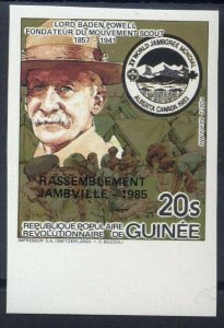 1985 Scouts Guinea World Jamboree BP Imperf ovpt gold